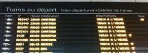 Départ des trains