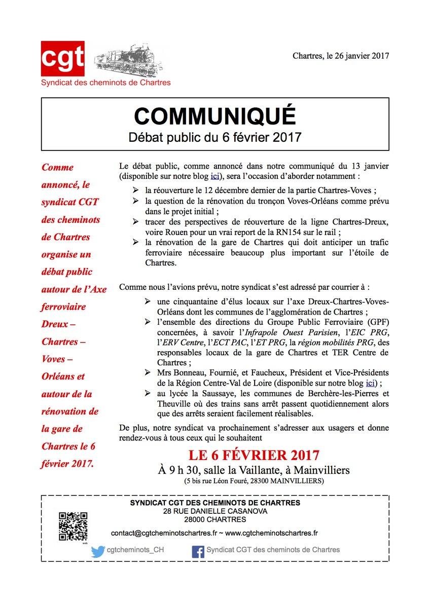 Communiqué CGT Débat public du 6 février 2017