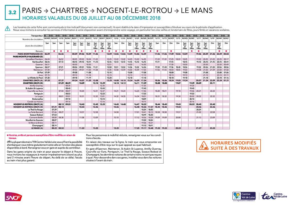 Plan de transport Juillet/Decembre 2018