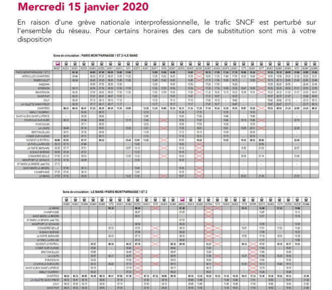 Mouvement Social du 15 janvier 2020