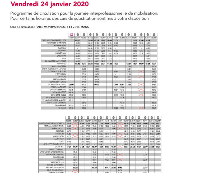 Mouvement Social du 24 janvier 2020